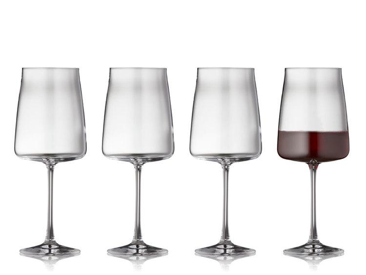 Rödvinsglas Zero 54 cl 4 st, Lyngby glas