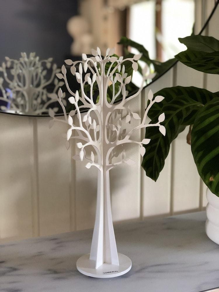 Dekorationsträd X-Träd glest 30 cm, vit, Lonneberg