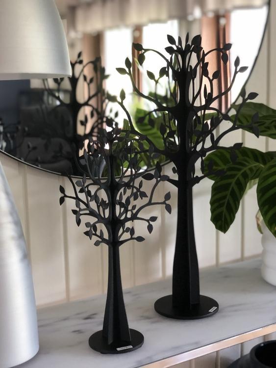 Dekorationsträd X-Träd glest, 50 cm och 30 cm, svart, Lonneberg
