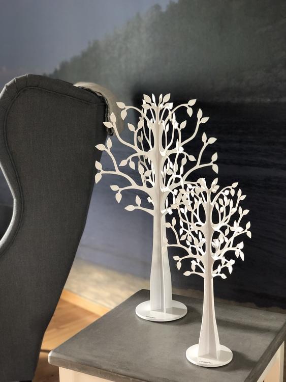 Dekorationsträd X-Träd glest, 50 cm och 30 cm, vit, Lonneberg