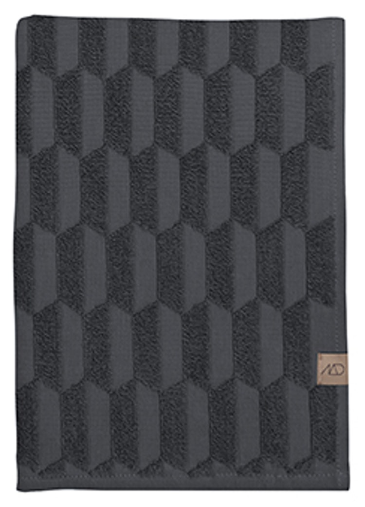 Gästhandduk GEO, 2-pack, 35x55 cm, anthracite, Mette Ditmer