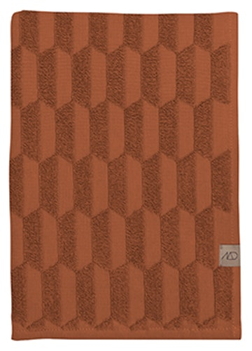 Gästhandduk GEO, 2-pack, 35x55 cm, rust, Mette Ditmer
