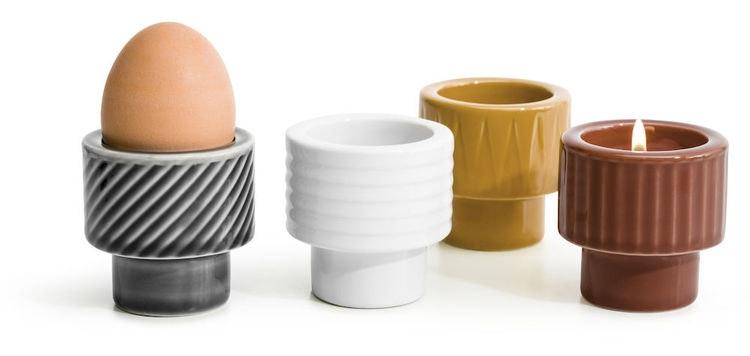 Coffee & More ljus/äggkopp, grå, Sagaform