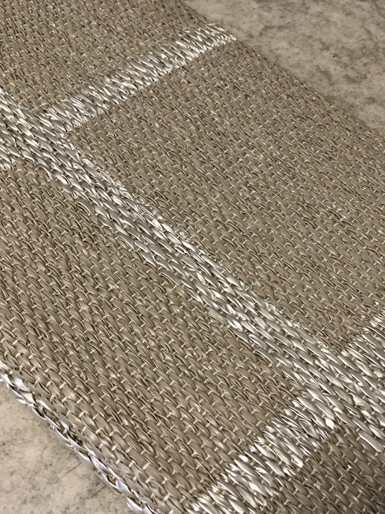 Matta ADA, dark linen/stone metallic, 70x150 cm, Pappelina