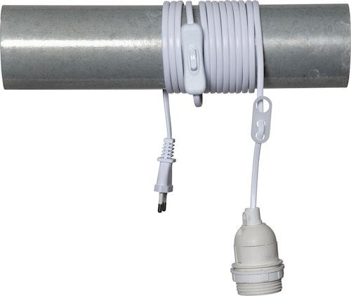 Kabel 3,5 m, vit med strömbrytare