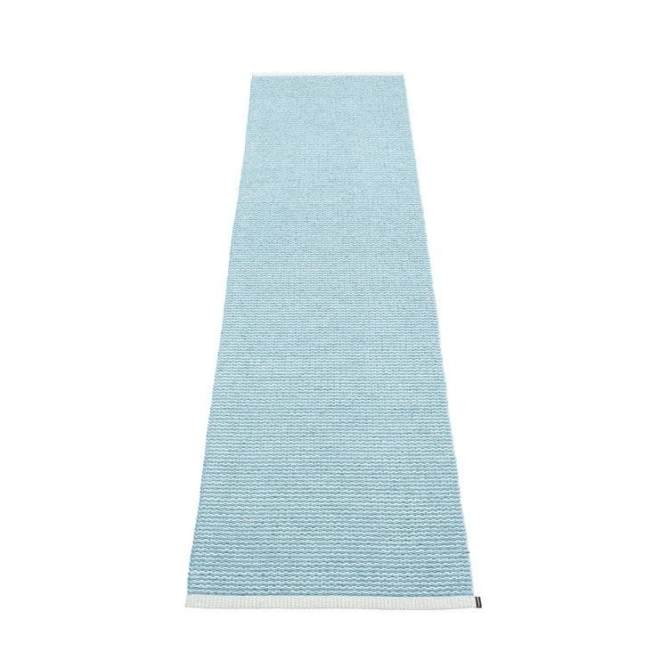 Matta MONO Misty blue/Ice blue, 60x250 cm, Pappelina