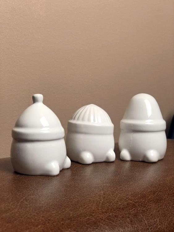 Hipster triplets, shiny white, 3-pack, DBKD, juldekoration, tomtenissar, hipstertomtar
