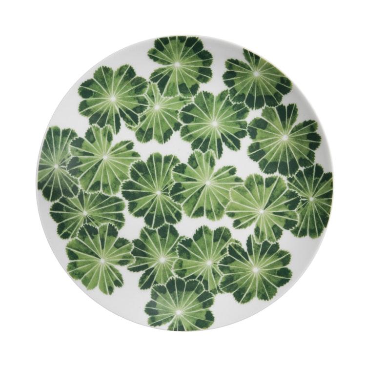 Assiett/ liten tallrik Daggkåpa, grön, 21 cm, Götefors Porslin