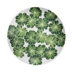 2-pack assiett/ liten tallrik Daggkåpa, grön, 21 cm, Götefors Porslin