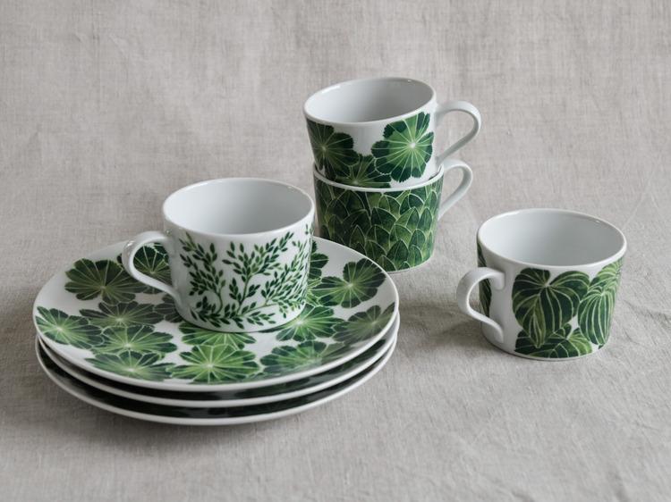 2-pack kopp Daggkåpa, grön, 24 cl, Götefors Porslin
