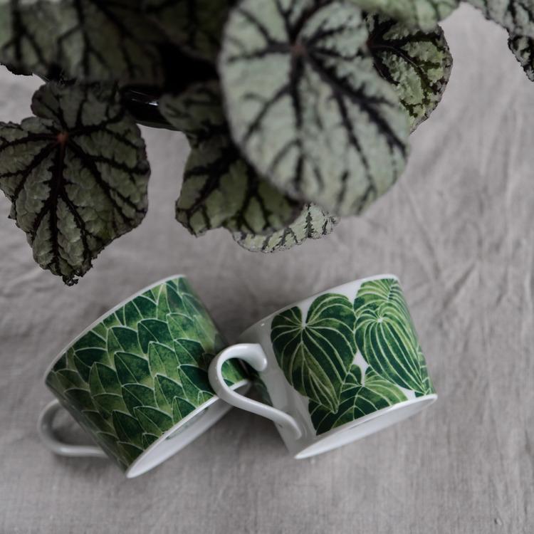 Kopp Funkia, grön, 24 cl, Götefors Porslin