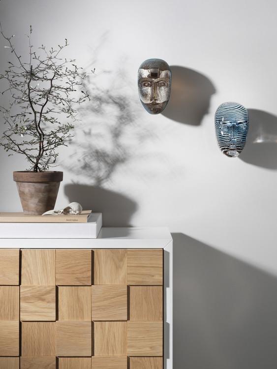 Skulptur/väggdekoration Brains Look, Kosta Boda, Bertil Vallien, Brains Look In