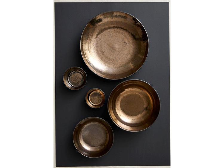 Skål, BITZ, 14 x 7 cm, svart/brons