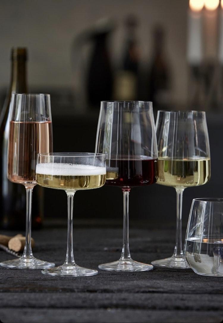 Champagneglas Krystal Zero 30 cl 4 st, Lyngby Glas, champagneskål, rödvinsglas, vitvinsglas