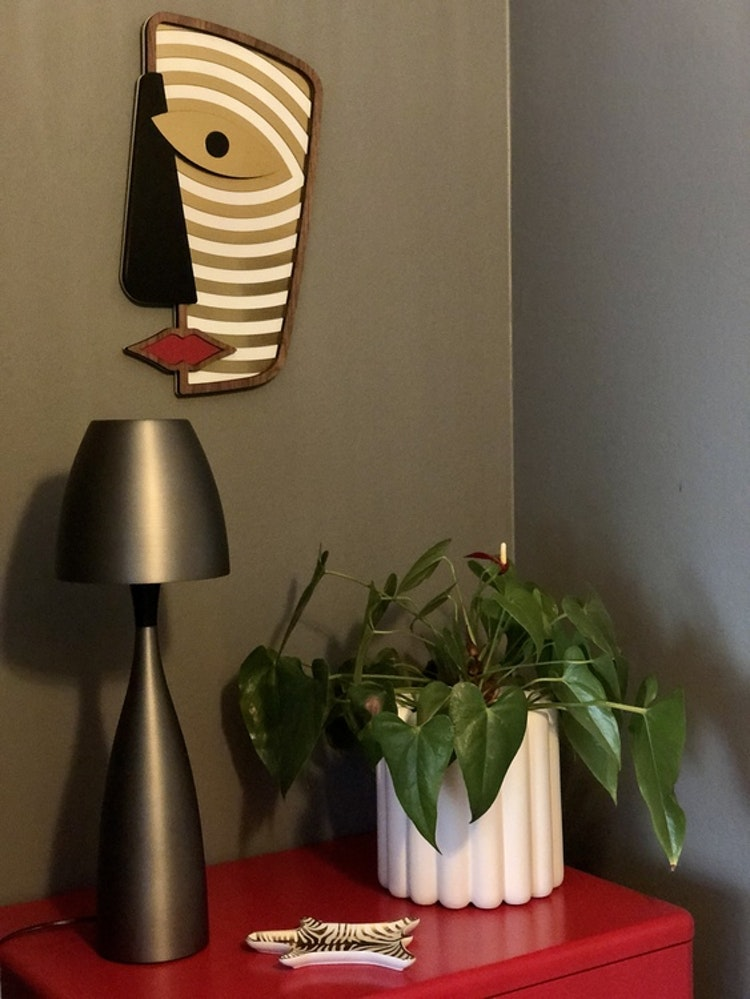 Kruka Mist, vit, small, DBKD, väggdekoration, UMASQU Abstrasso #11
