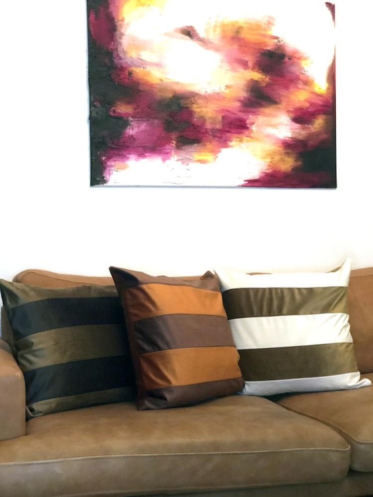Kuddfodral Dandy, brun, 50x50 cm