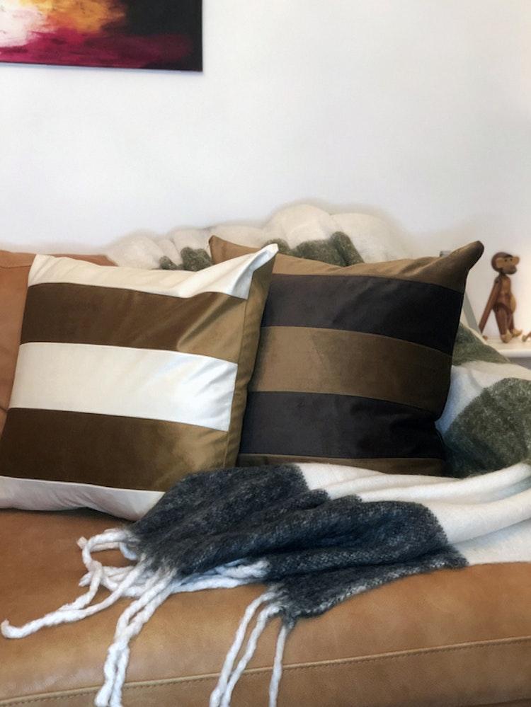 Kuddfodral Dandy, konjak, 50x50 cm