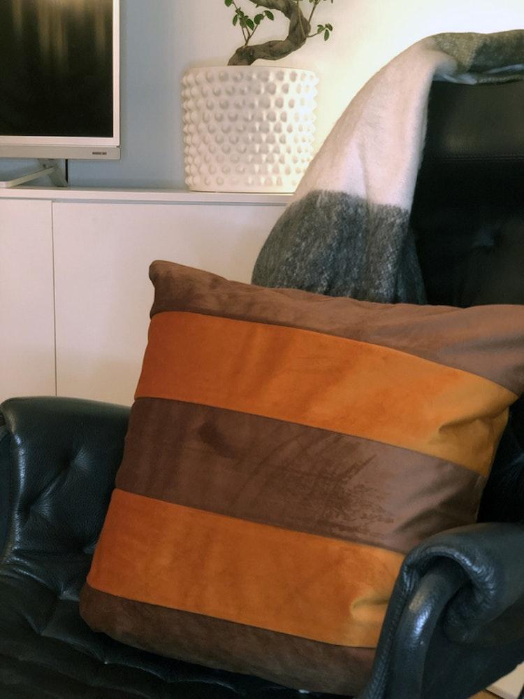 Kuddfodral Dandy, rost, 50x50 cm
