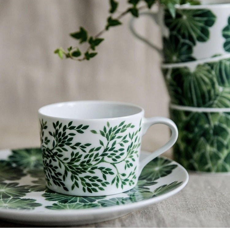 2-pack kopp Myrten, grön, 24 cl, Götefors Porslin