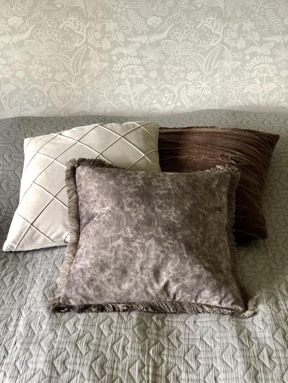Kuddfodral Gina, grå, 45x45 cm
