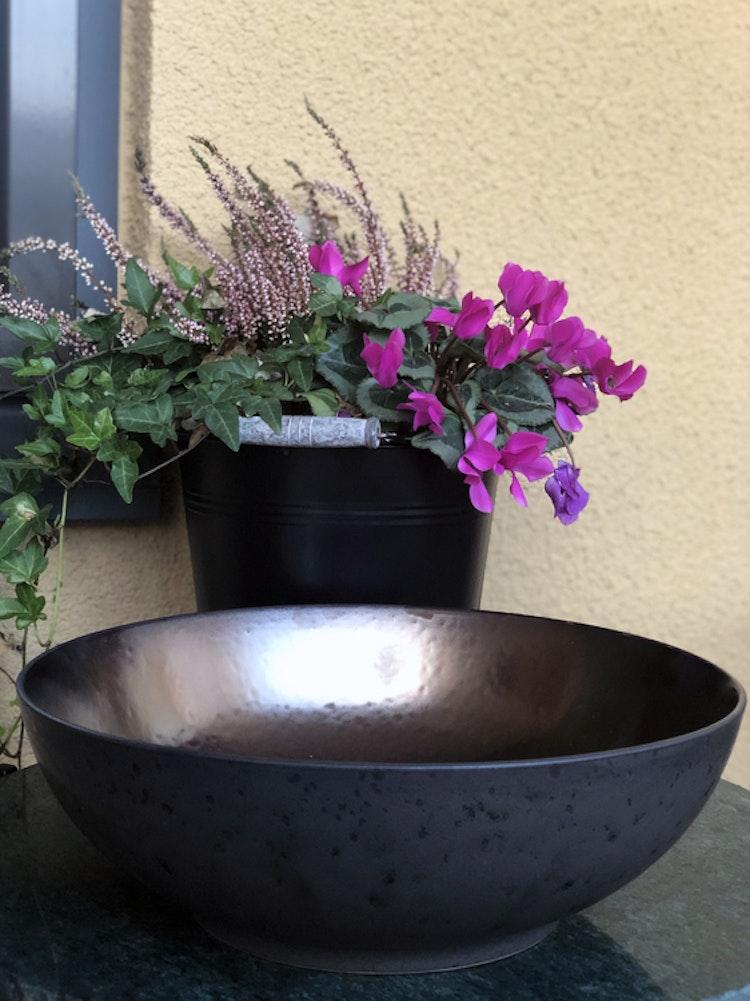 Salladsskål, Bitz, 30 cm, svart/brons