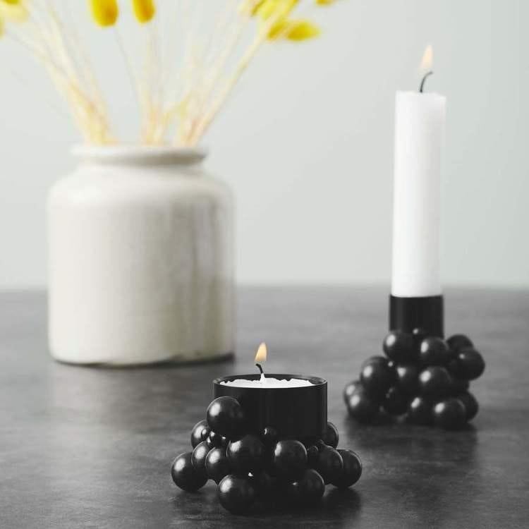 Ljuslykta Molekyl 1, svart, GEJST