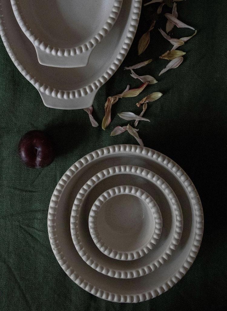 Daria skål, 12 cm,2-pack,  cotton white, PotteryJo
