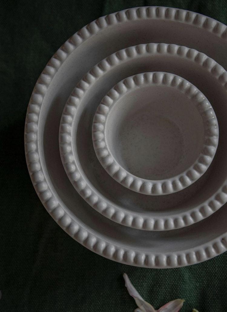 Daria skål, 23 cm, cotton white, PotteryJo