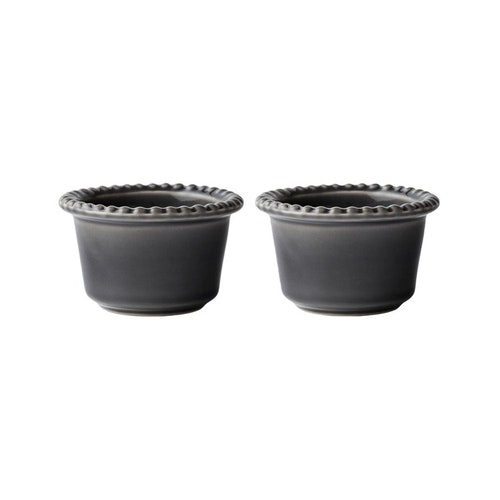 Daria skål, 12 cm,2-pack,  clean grey, PotteryJo
