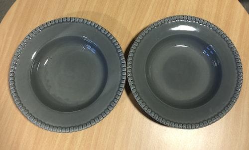 Djup tallrik Daria, 26 cm, 2-pack, clean grey, PotteryJo