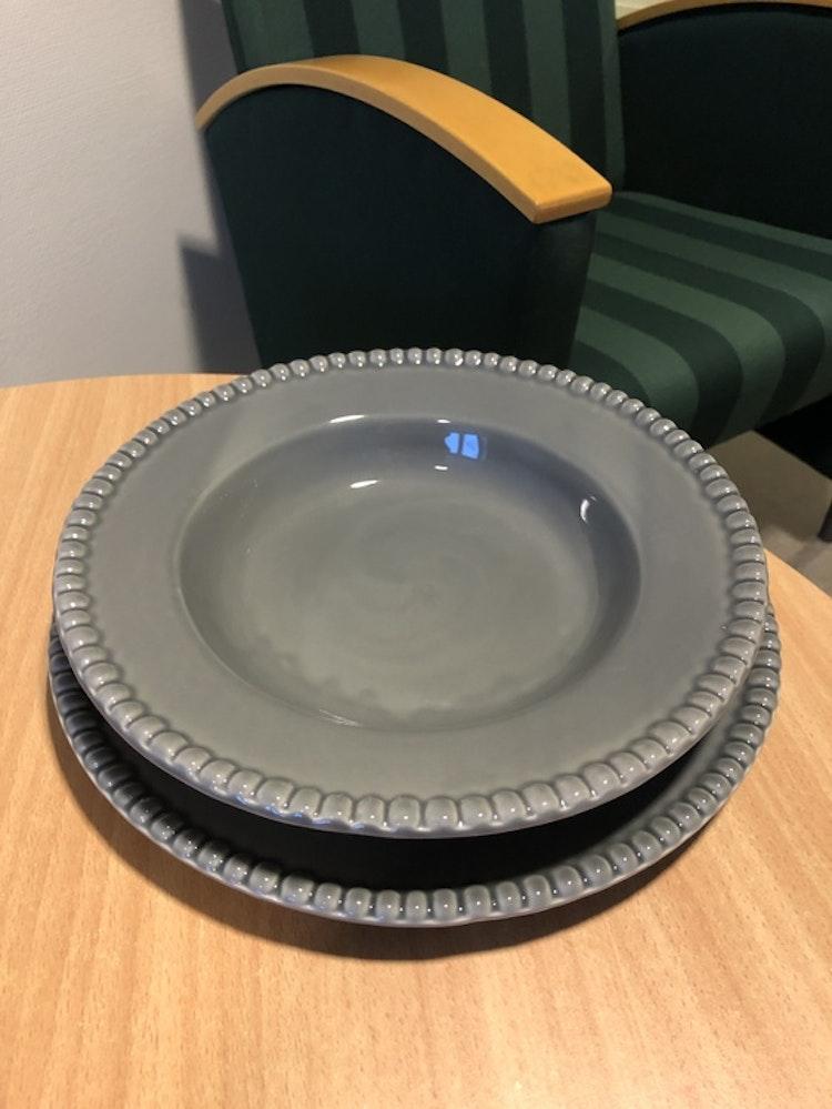 Tallrik Daria, 28 cm, 2-pack, clean grey, PotteryJo, djup tallrik 26 cm