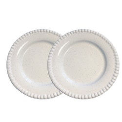 Tallrik Daria, 22 cm, 2-pack, white shiny, PotteryJo