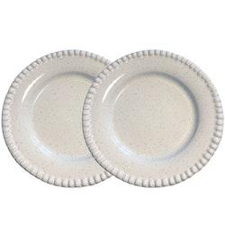 Tallrik Daria, 28 cm, 2-pack, white shiny, PotteryJo