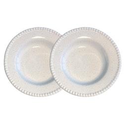 Djup tallrik Daria, 26 cm, 2-pack, white shiny, PotteryJo