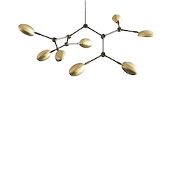 Taklampa Drop Chandelier - Mini, Brass, 101 Copenhagen