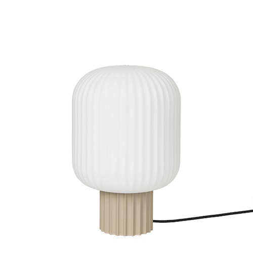 Bordslampa Lolly, 30 cm, sand metal/white opal, Broste Copenhagen
