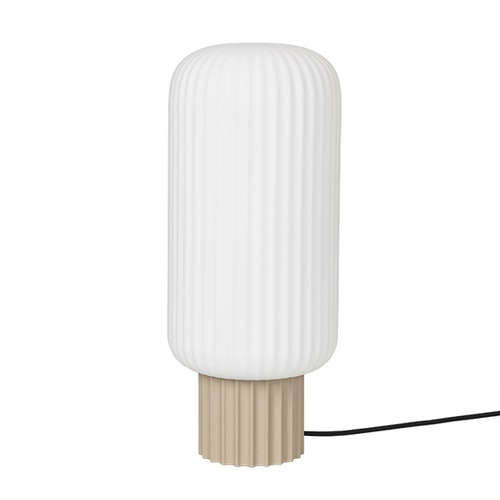Bordslampa Lolly, 39 cm, sand metal/white opal, Broste Copenhagen