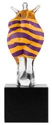 Skulptur Badkvinna, gul/lila, limiterad upplaga, Kosta Boda
