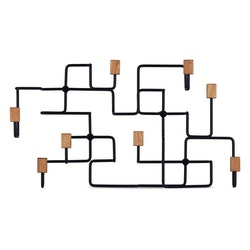 Klädhängare Underground, svart/ek, Gejst