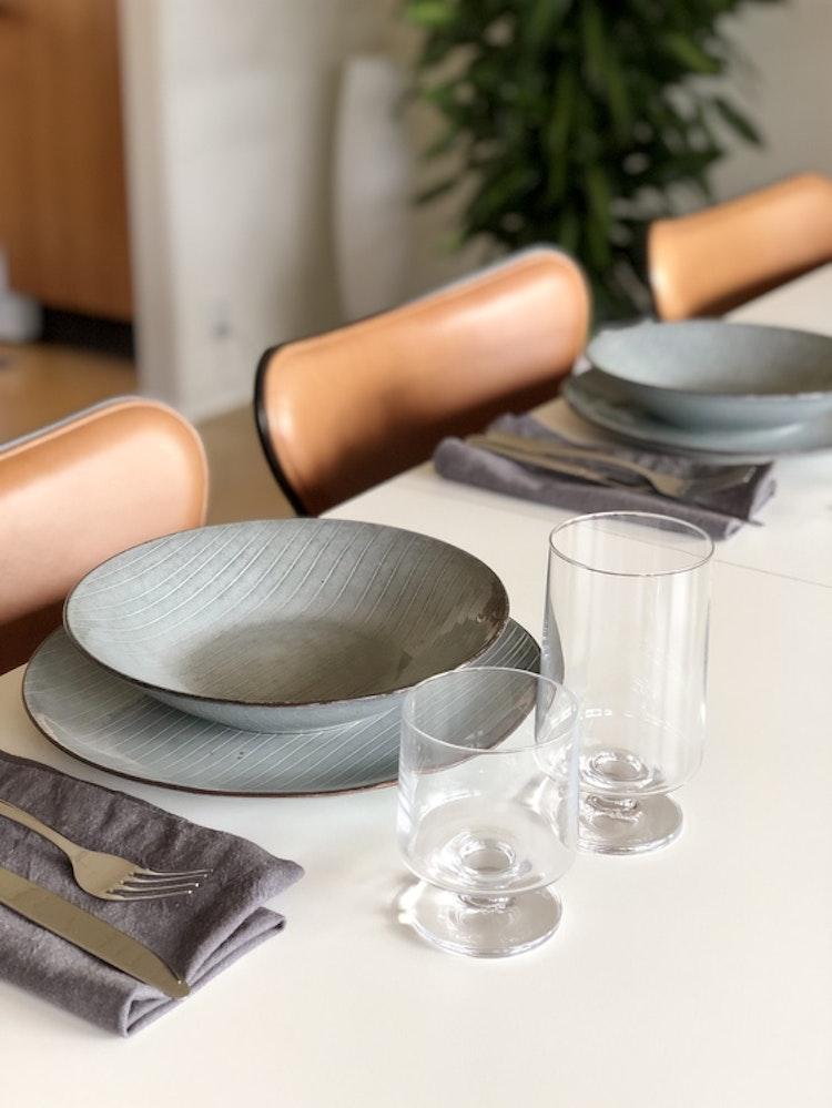 Glas Stub, 36 cl, 2-pack, Holmegaard, tallrikar Nordic Sea, Broste Copenhagen