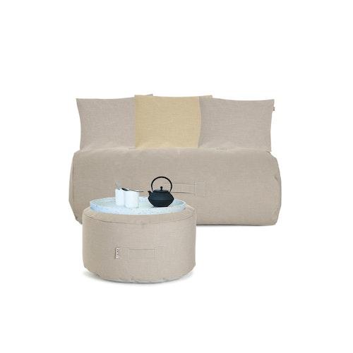 Cozy Set, utemöbel, beige, Trimm Copenhagen