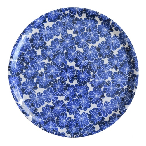 Bricka Daggkåpa, blå, 38 cm, Götefors Porslin