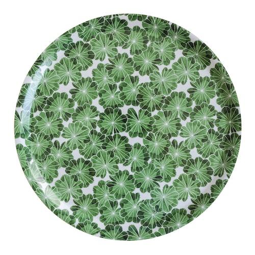 Bricka Daggkåpa, grön, 38 cm, Götefors Porslin