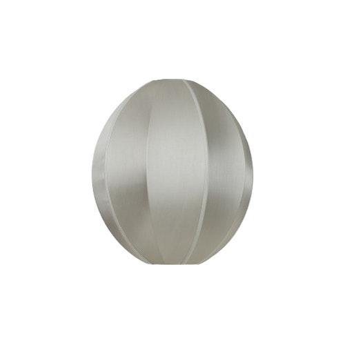 Taklampa Indochina oval, grey  siden, Oi Soi Oi