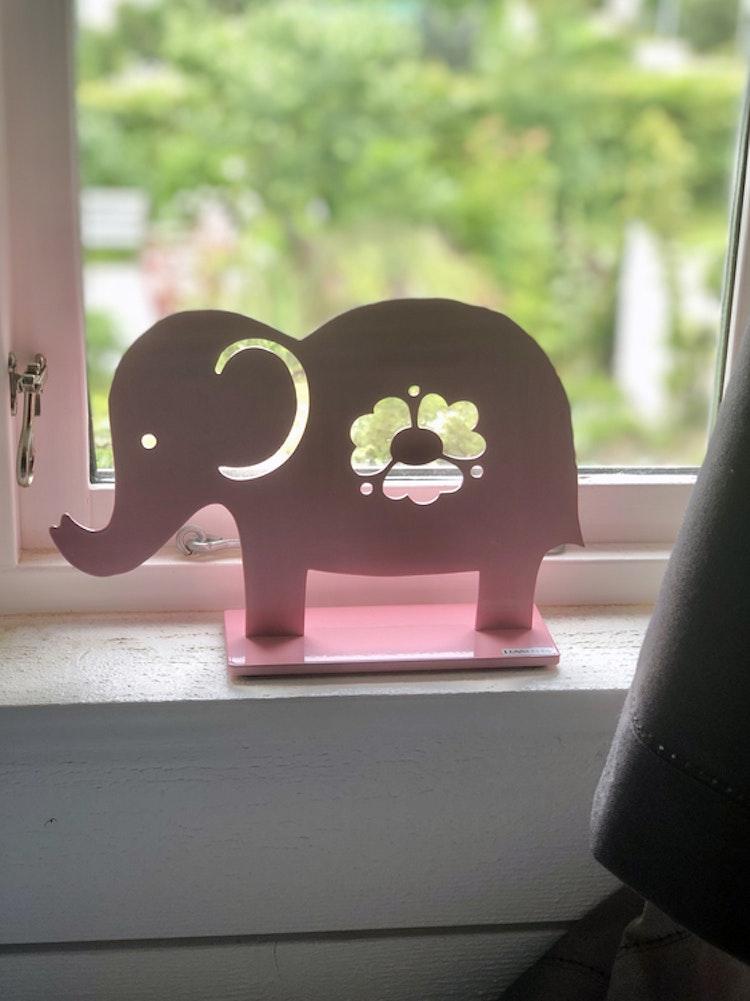 Elefant, 20 cm, ljusrosa, Lonneberg