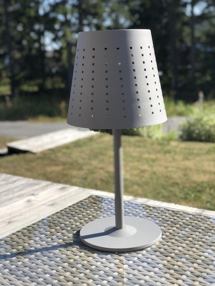 Utomhuslampa Alvar, grå metall, 48 cm