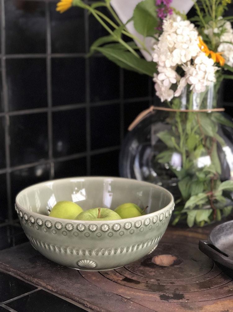 Daisy salladsskål, 23 cm, faded army, PotteryJo