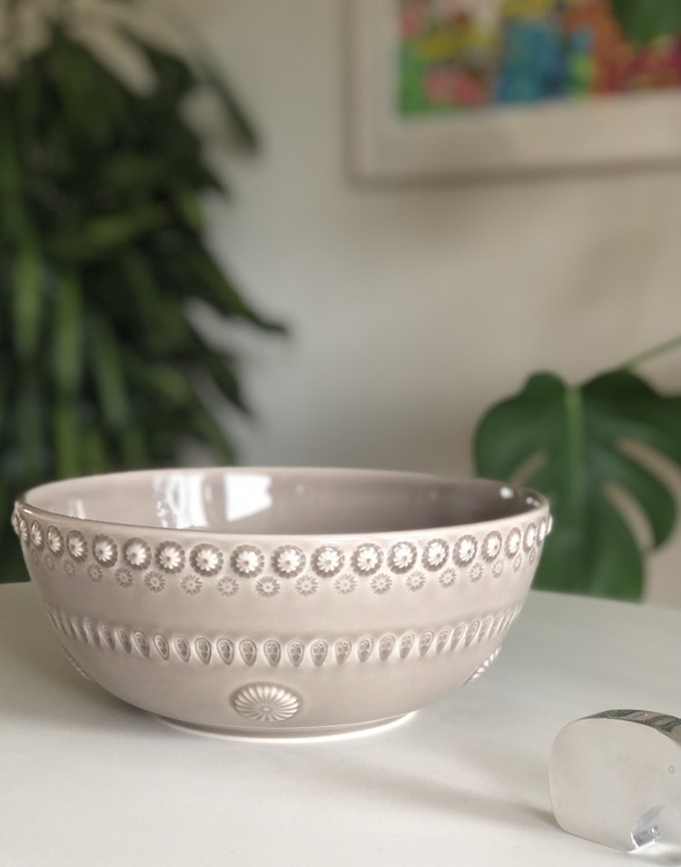 Daisy salladsskål, 23 cm, greige, PotteryJo