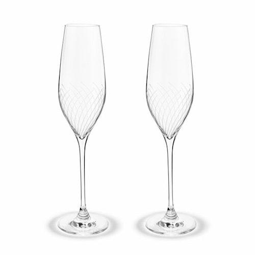 Champagneglas Cabernet Lines, 2-pack, Holmegaard