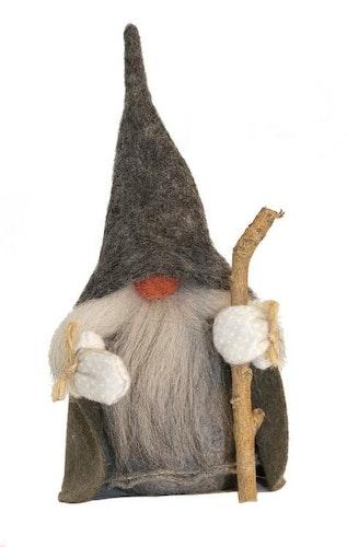 Vätten Lill-Vidar, grå luva, grågrön cape, 20 cm, Åsas Tomtebod